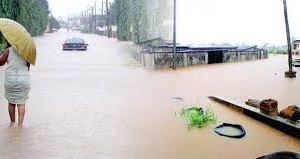 Flooded streets of Benin City
