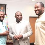 (Photonews)  Gov. Ambode receives cast and crew of the film 93 Days at Lagos House, Ikeja