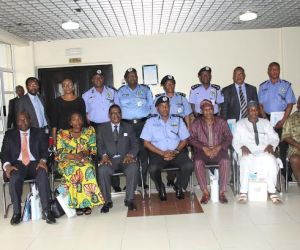 The Chairman and members of the Committee with the IGP