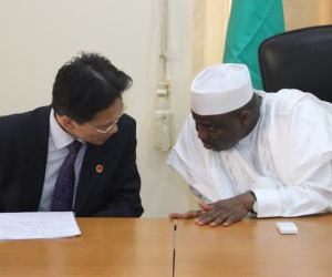Gov. Tambuwal (R) with the Chinese Ambassador to Nigeria, Mr. Gu Xiaojie