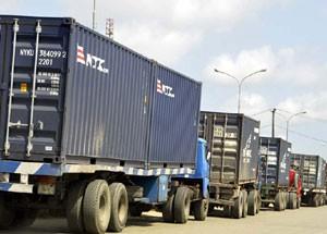 Trucks on Lagos roads