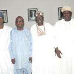 (Photonews) Tinubu, Govs. Ambode, Aregbesola pay courtesy visit to Afenifere leader, Pa Olaniwun Ajayi in Ogun State