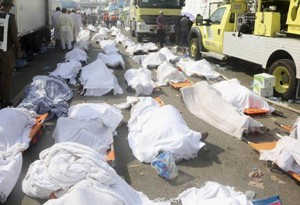 Victims of the hajj stampede in Saudi Arabia