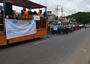 The Peace Walk procession in Lagos
