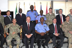 The US delegation at the IGP's office