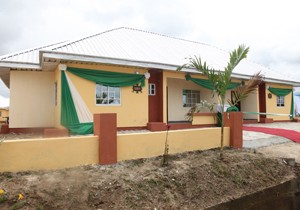 The commissioned medium income flats at Iriebe satellite town in Obio/Akpor LGA.