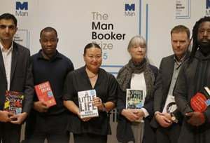 This year's shortlisted authors: (from left) Sunjeev Sahota, Chigozie Obioma, Hanya Yanagihara, Anne Tyler, Tom McCarthy and Marlon James