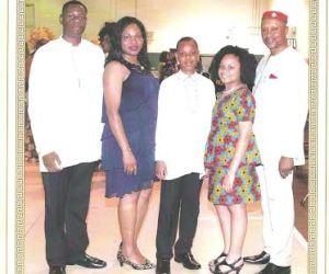 Chairman of the 2015 Harvest Committee, Multiple Chief Kelechi Onyegbule and his family