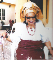Chief (Mrs) Matilda Ibe,mother of one of the honorees, Mother of the Day, Dr. (Mrs) Stella Korieocha
