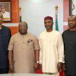 (Photonews) Ikpeazu, Enelama, Okochukwu, Ikoh talk Trade and Investment in Umuahia