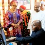 (Photonews) Atiku, wife register for National Identity Card