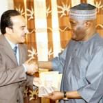 (Photonews) Atiku receives Kuwaiti Ambassador to Nigeria in Abuja
