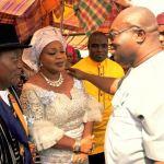 (Photonews)  Dr Okezie Ikpeazu commiserates with Barr. Mrs. Obewu Onwuka