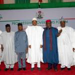Buhari receives Award from Okorocha-led APC Governors' Forum; Hosts Tinubu