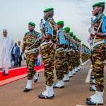 Buhari departs Abuja, arrives Niger Republic for AU Summit