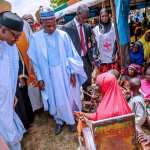 Our priority investments in infrastructure paying off – President Buhari says in Katsina; Visits Displaced Persons