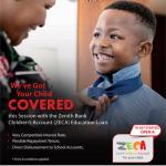 Zenith Bank offers ZECA Education loan for children