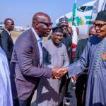 President Buhari returns to Abuja from Egypt; Congratulates UK Prime Minister on election victory