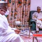Buhari meets Senate President on insecurity, APC crisis; Service Chiefs must sit up or go – Lawan