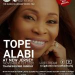 Star gospel singer, Tope Alabi ministers at RCCG Dominion Cathedral, New Jersey, USA Sunday