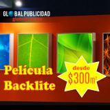 Impresión en película Backlite, desde $300 m2