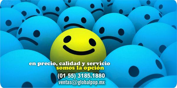 En precio, calidad y servicio, somo la opción. ventas@globalpop.mx