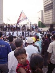 Leaders of the opposition party (Cambodian Peoples Rescue Party) would come and speak at Freedom Park