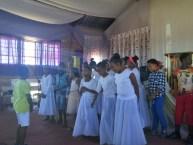 Youth choir singing