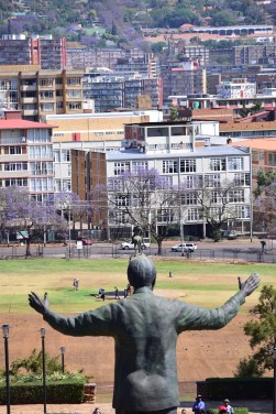 The Nelson Mandela statue that stands in front of the Union Buildings (The seat of the president)