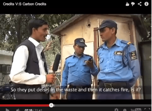 credits vs carbon credits film - santu interviews guards