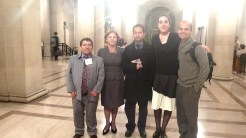 Inclusive waste management supporters and activists Silvio Ruiz Grisales, Nelly Mogollon, Federico Parra, Lucia Fernandez, and Manuel Rosaldo.