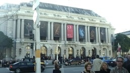 Outside of the San Francisco Opera House, where the Goldman Prizes were delivered.