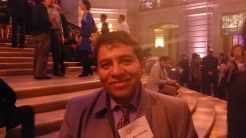 A smiling Silvio Ruiz Grisales, Colombian waste pickers' leader, at the Goldman Environmental Prize ceremony. Photo credit: Lucia Fernandez.