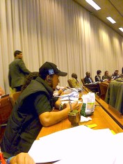 Alex Cardoso, MNCR, speaking at the Sustainable Development Workers' Committee. Photo: Harshad Barde.