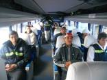 Members of the MTE on their bus to Rio to meet the pope. (Photo: MTE)