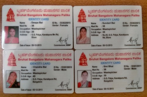 Occupational Identity Card issued by Greater Bangalore Municipal Corporation