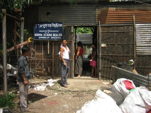 Scrap dealer in Samdruo Jongkhar