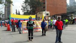 Demonstration March 1st in Bogota 2017.