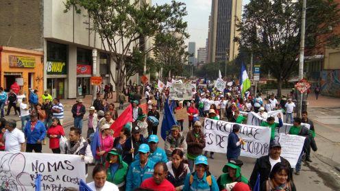 March 1st 2017 march in Bogota.