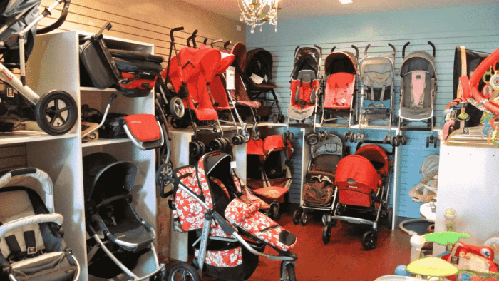 Many brands offer baby gear rental services