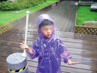 Repousser la pluie avec de l'air.