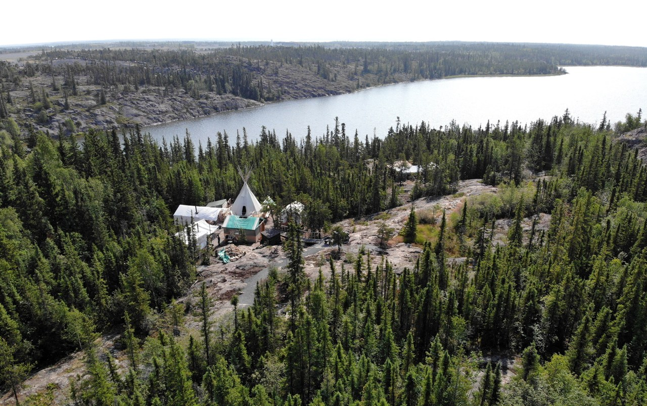 Overhead view of the Arctic Indigenous Wellness Foundation in Yellowknife, NWT