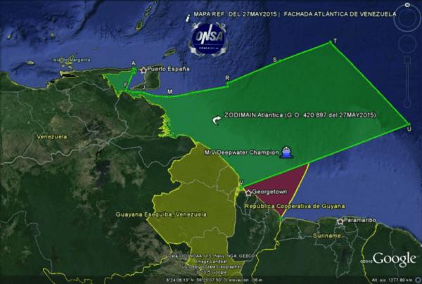 Guyana Venezuela sea
