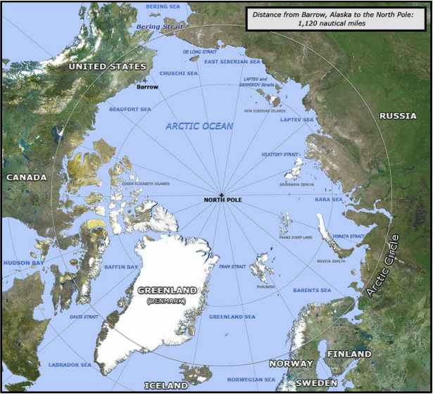 Map courtesy of the U.S. Navy Arctic Roadmap
