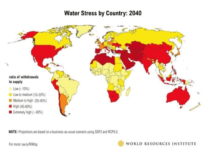 Water stress 2040