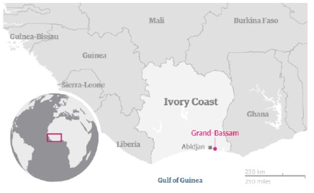 Map Ivory Coast