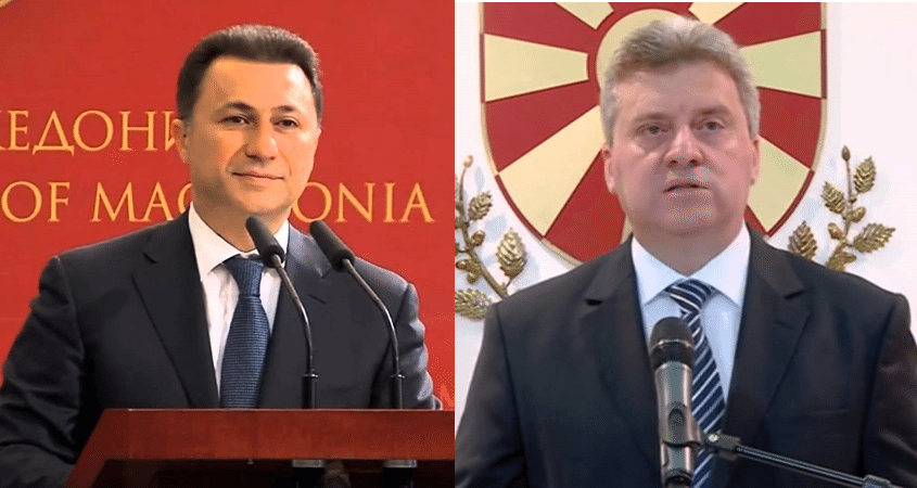 Former Prime Minister Gruevski (left) and President Ivanov (right)
