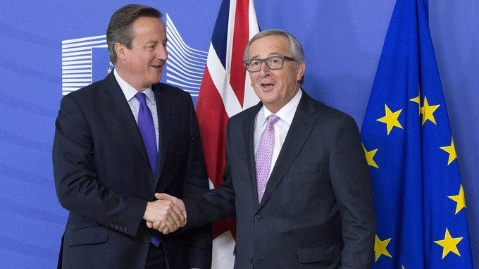 British PM David Cameron and President of the European Commission, Jean-Claude Juncker