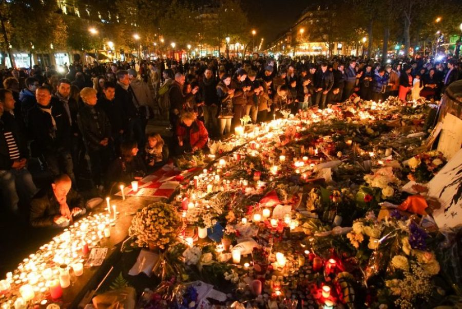A vigil for the IS-launched attacks in Paris. The attacks were ultimately traced back to cells operating out of Brussels.