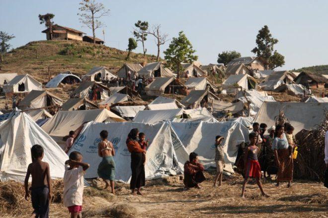 Royhinga at an IDP camp in Rakhine State.